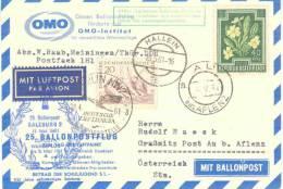 Rep. Osterreich - 25. Ballonpostflug  -  - Hallein 19/5/1961 (RM0488) - Montgolfières