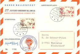 Denmark - 27. Deutscher Kinderdorf Ballonflug - Ambulancedagene Hobro 1970 - 29/8/1970 (RM0502) - Luchtballons