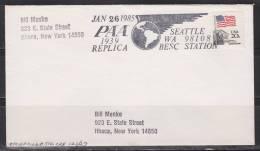 = Etats Unis 26 Jan 1985 PAA 1939 Replica Seattle WA 98108 Besc Station - Luftpost