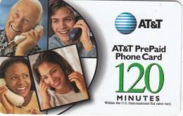 ALASKA(USA) - People On Phone, AT&T Magnetic Prepaid Card 120 Min, Used - Altri – America