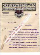Brief 1910 - KÖLN AM RHEIN - GREVEN & BECHTOLD - Buch- Und Stein-Druckerei - Imprimerie & Papeterie