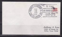 = Etats Unis Nov 19 1978 Hunpex Exhibition St Cleveland OH 44101 75 Years Of Powered Flight 1903 - 1978 - Luftpost