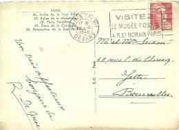 France 1948 Paris >> Jette Belgique / Musée Postal - Briefe U. Dokumente