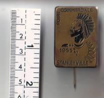 Badge De La Foire Commerciale De Stanleyville (Congo Belge) En 1955. - Autres Collections