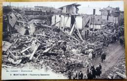 Cpa MONTAUBAN 82 Faubourg Gasseras - Militaires Dans Les Ruines - Montauban