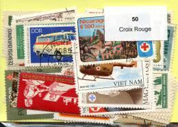 Lot 50 Timbres Croix Rouge - Vrac (max 999 Timbres)
