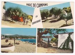 """Saint Laurent Du Var - Parc De Camping """"La Concorde"""" - Multivue 4 Vues - Pas Circulé, Cpsm 10.5x15 - Saint-Laurent-du-Var"""