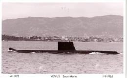 Sous-Marin VENUS, 1965. Rade De Toulon. - Submarines
