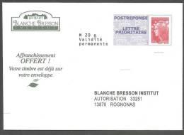 PAP REPONSE BEAUJARD  ___  BLANCHE BRESSON.  N°12P135 - Prêts-à-poster: Réponse /Beaujard