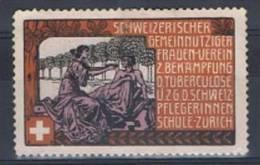 FP 193 - Ecole De Soignantes Pour Le Lutte Contre La Tuberculose Zürich - Labels