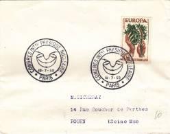 Paris 1958 - BT Congrès Physique Nucléaire - Atome Atomique - Cachets Commémoratifs
