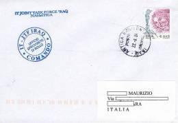 A44 - MISSIONI MILITARI DI PACE ITALIANE - ITALFOR - ONU MISSIONS - NATO - ANTICA BABILONIA - IRAQ - 2001-10: Storia Postale
