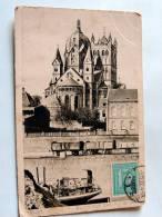 Carte Postale Ancienne : NEUSS : Blick Auf Das Münster With Stamp - Neuss