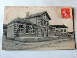 Carte Postale Ancienne : PLANCY : La Mairie Et La Maison D'école Des Filles - France