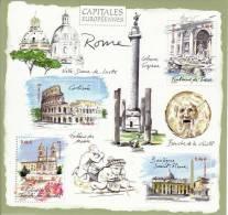 "Feuillet ""Capitales Eoropéennes Rome"" N°53 Année 2002 Neuf ** - Mint/Hinged"