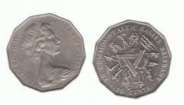 AUSTRALIA - 50  Cents 1982  KM74  Games - Moneda Decimale (1966-...)