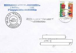 A48 - MISSIONI MILITARI DI PACE ITALIANE - ONU MISSIONS - NATO - ANTICA BABILONIA IRAQ - TASK FORCE FAGARE - LAGUNARI - 2001-10: Storia Postale
