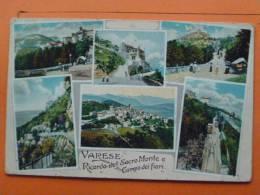 V1-Italie--cpa--varesse-ricordo Del Sacro Monte E Campo Dei Fiori--6 Vues-1916 - Non Classificati