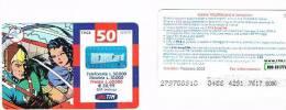 TIM ITALIA - RICARICAT (10^ ED.) 1142A - GORDON E DALE IN NAVETTA  (16P) SC. FEBBR. 2002 (OCR 22, PIN 42) - USATA RIF.CP - Schede GSM, Prepagate & Ricariche