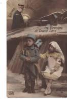BONNE ANNEE. Victoire. Les Etrennes De Grand Pere. Un Soldat, Deux Enfants,  Un Soldat, L'autre Infirmière Croix Rouge - New Year
