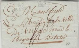 Pref. Periodo Napoleonico. Da Camaret,Francia. Passata Da Orange Per Verona Regno D'Italia 1811 - Unclassified