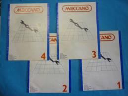 Anciens catalogues MECCANO notices de montage N� 1 -2 -3 -4 ( voir 2 photos et descriptif )