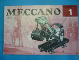 Ancien catalogue MECCANO pour boite N� 1 de 1967 ( voir 2 photos et descriptif )