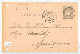 HANDGESCHREVEN BRIEFKAART Uit 1898 * NVPH 33 *  Van KROMMENIE Naar APELDOORN (7285a) - Periode 1891-1948 (Wilhelmina)