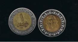 EGIPTO -  1 Pound 2007 Faraon - Bimetal - Egipto