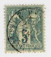 1876-78 : Groupe Allégorique Paix Et Commerce Dit Type Sage. Type I N° 64 5c. Vert - 1876-1878 Sage (Type I)