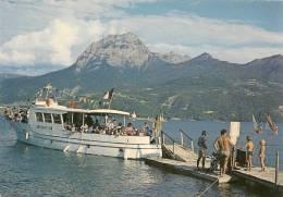 CPA-1970-05-LAC DE SERRE-PONCON-LA BAIE ST MICHEL-BATEAU -ILES D OR VIII--TBE - France