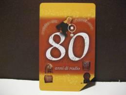 392 Ex 1890 GOLDEN EURO - 80 ANNI DI RADIO LOCANDINA - USATA PERFETTA QUALITA´ FIOR DI STAMPA - G - Public Advertising