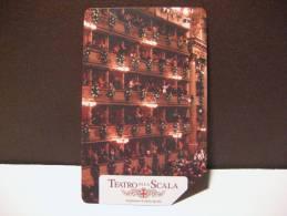 389 Ex 1887 GOLDEN EURO - TEATRO ALLA SCALA PALCO SX - USATA PERFETTA QUALITA´ FIOR DI STAMPA - G - Public Advertising