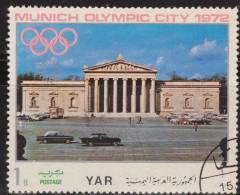 Yemen 1970 Michel 1232 Sello * Munich Juegos Olimpicos Monumentos Glyptothek 1/4 Bogshahs Yemen Stamps Timbre Briefmarke - Yemen