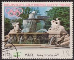 Yemen 1970 Michel 1233 Sello * Munich Juegos Olimpicos Monumentos Wittelsbach Fountain 1 3/4 Bogshahs Yemen Stamps Timbr - Yemen