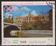 Yemen 1970 Michel 1234 Sello * Munich Juegos Olimpicos Monumentos Building Of Parlament 2 1/2 Bogshahs Yemen Stamps - Yemen