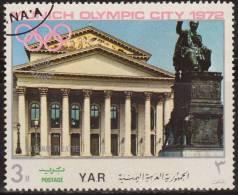 Yemen 1970 Michel 1235 Sello * Munich Juegos Olimpicos Monumentos National Theatre 3 Bogshahs Yemen Stamps Timbre - Yemen