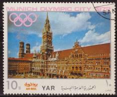 Yemen 1970 Michel 1238 Sello * Munich Juegos Olimpicos Monumentos City Hall 10 Bogshahs Yemen Stamps Timbre Briefmarke - Yemen