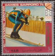 Yemen 1972 Michel 1440 Sello * Juegos Olimpicos Invierno Sapporo Sky 3/4 Bogshahs Yemen Stamps Timbre Briefmarke Jemen - Yemen