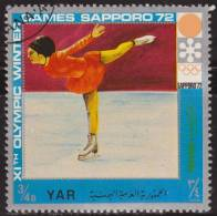 Yemen 1972 Michel 1441 Sello * Juegos Olimpicos Invierno Sapporo Patinaje 1/2 Bogshahs Yemen Stamps Timbre Briefmarke - Yemen