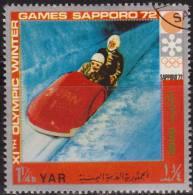 Yemen 1972 Michel 1442 Sello * Juegos Olimpicos Invierno Sapporo Bob 1 1/4 Bogshahs Yemen Stamps Timbre Briefmarke Jemen - Yemen