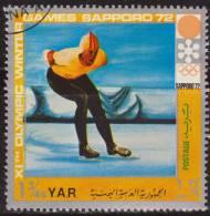 Yemen 1972 Michel 1443 Sello * Juegos Olimpicos Invierno Sapporo Velocidad 1 3/4 Bogshahs Yemen Stamps Timbre Briefmarke - Yemen