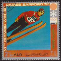 Yemen 1972 Michel 1444 Sello * Juegos Olimpicos Invierno Sapporo Saltos Esqui 2 1/4 Bogshahs Yemen Stamps Timbre - Yemen