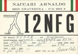 # 090 -  QSL - CARD GRAVEDONA (COMO) - OTTOBRE 1978 - Cartes QSL