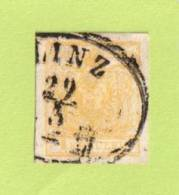 """AUT SC #1  1850 Coat Of Arms (""""LINZ / 3-29"""") - Used Stamps"""
