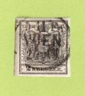 "AUT SC #2b  1850 Coat Of Arms, W/SON (""WIEN"")  Gray-black, CV $120.00 - 1850-1918 Empire"