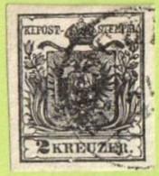 AUT SC #2  1850 Coat Of Arms, 4 Margins, CV $82.50 - 1850-1918 Empire