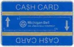 United States - SKU-17719, Michigan Bell Cash Card With Two Stripes, 10.000ex, 10 $ , Mint - United States