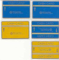 United States - Michigan Bell Cash Card,Set 5 Cards,  Mint - [1] Holographic Cards (Landis & Gyr)