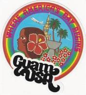 GUAM USA TOURIST VINTAGE LUGGAGE LABEL - Etiketten Van Hotels